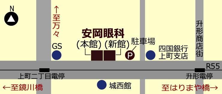 地図:当院・駐車場案内